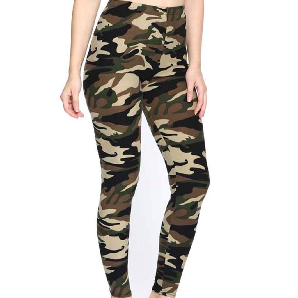 Womens Sport Gym Pants, Camouflage Slim Pencil Pants Running Yoga Jogger Casual Pants sportout Trousers (M, Camouflage)