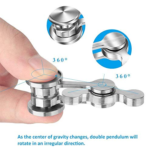 LARRY SHELL Anti-Anxiety Fidget Spinner Fidget Hand Toys Focus Finger Spinning Toy Smooth Metal Stainless Steel for Kid and Adult Relieving Stress Boredom Autism by LARRY SHELL (Image #3)