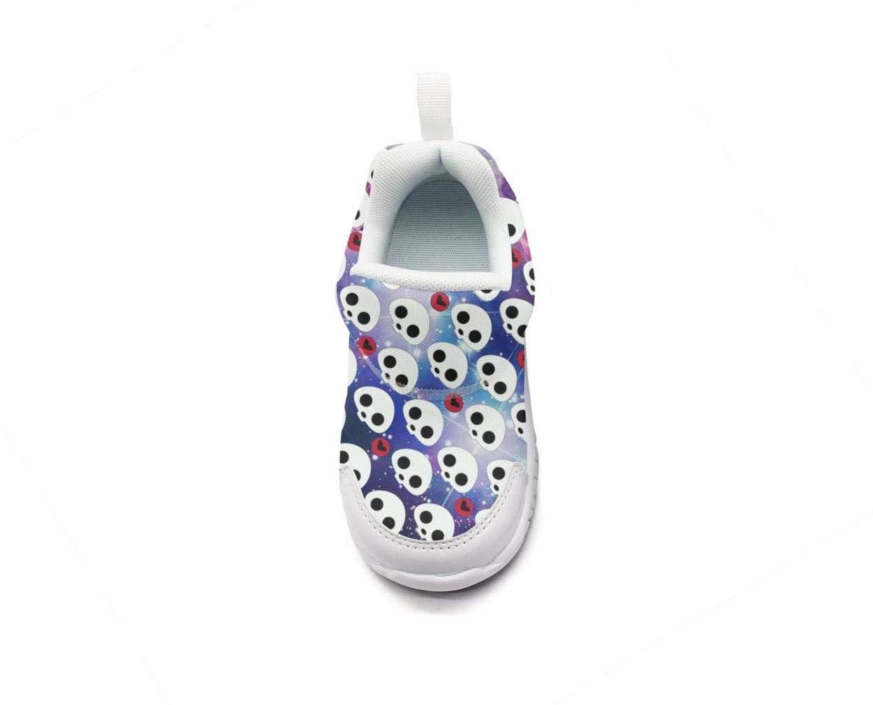 ONEYUAN Children Vintage Skull Crossbones Art Balck Kid Casual Lightweight Sport Shoes Sneakers Running Shoes
