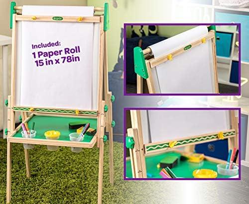 Crayola Kids Wooden Easel, Dry Erase Board & Chalkboard, Gift For Kids, Ages 4, 5, 6, 7