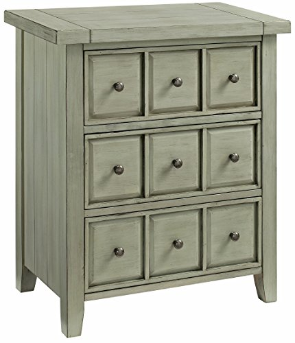 (Crosley Furniture CF8001-SE Sienna Apothecary-Style Accent Chest - Sage)