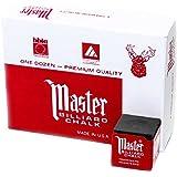 Master Billiard/Pool Cue Chalk Box, 12 Cubes
