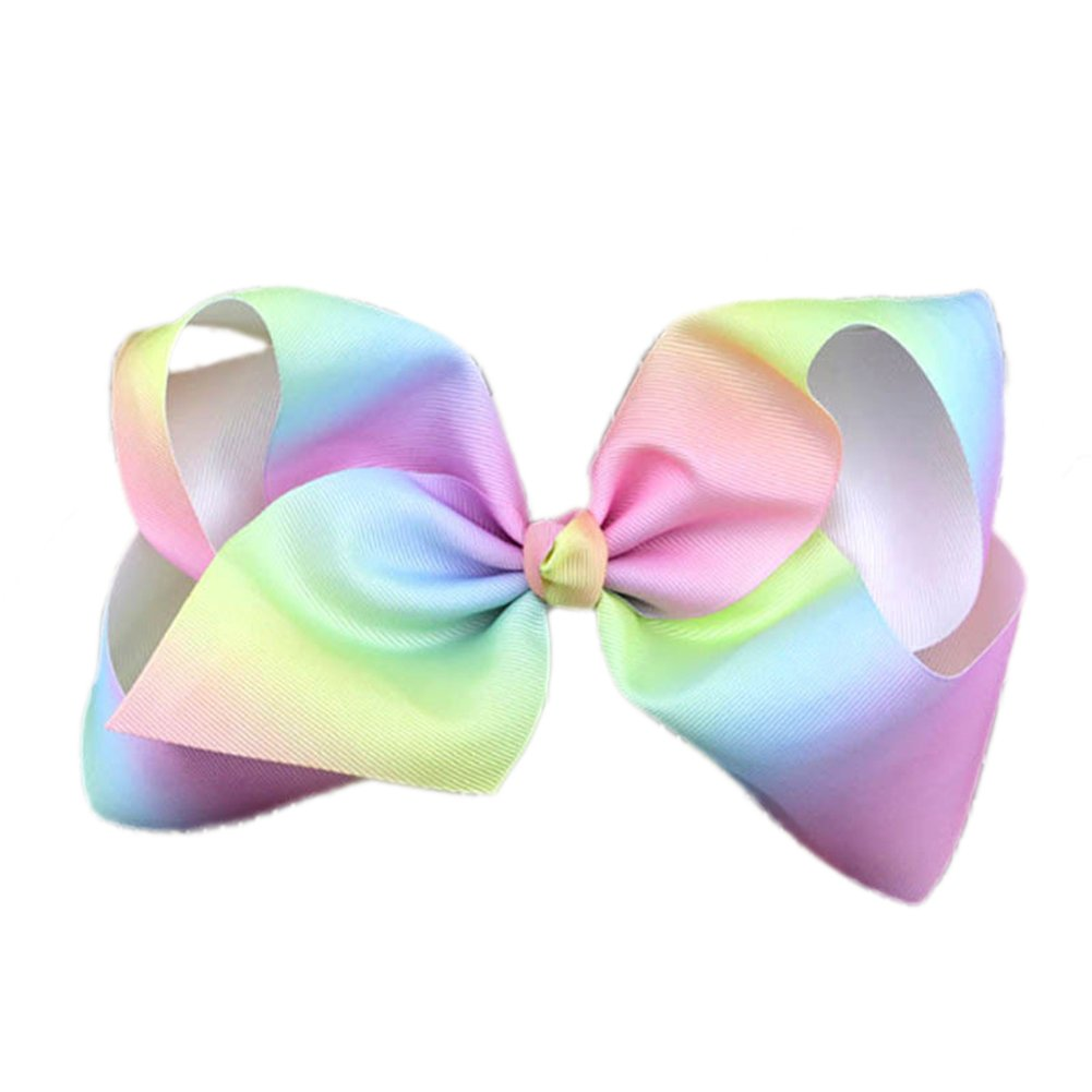 Kids Baby Girls Rainbow fiocchi per capelli grande grosgrain Bow Hairpin Suberde