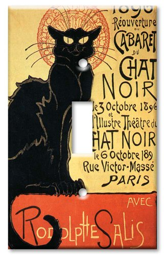 Light Switch Cover Art (Art Plates - Chat Noir (Black Cat) Switch Plate - Single Toggle)