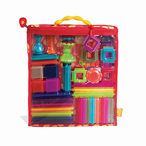 B. toys - Bristle Blocks Stackadoos – 68 Toy Blocks in a Storage Pouch JungleDealsBlog.com
