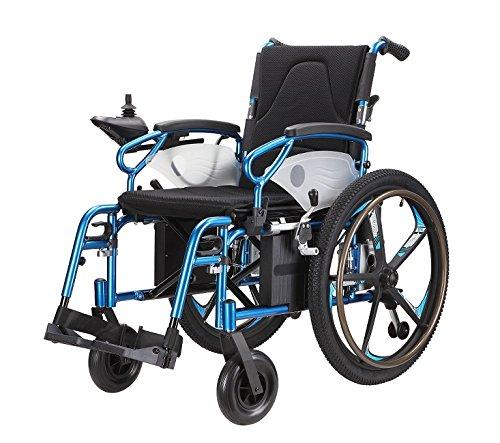 市場で最も軽量折りたたみ式電動車イス、背折れ31キロコンパクト、電動と自走で両方兼用 B00GRYCEV6