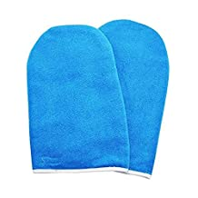 BestOfferBuy Paraffin Wax Manicure Protection Treatment Hand Gloves Mitts Cotton Blue