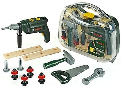 Theo Klein-8416 Bosch maletín de herramientas con taladradora portátil y numerosos accesorios, juguete, Multicolor (8416)