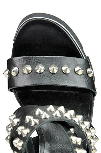 Oxs Femme Chaussures Noir Cuir Compensées MCGLCAT03198E 8S8BAzq