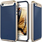 iPhone 5S Case, Caseology® [Wavelength Series] Textured Pattern Grip Cover [Navy Blue] [Shock Proof] for Apple iPhone 5S / 5 (2013) & iPhone SE (2016) - Navy Blue