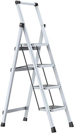 Escalera 3 escalones 4 escalones Espiga de Acero Gruesa for Tipo Loft en Interiores y Exteriores Liuyu. (Size : 4 Step Ladder): Amazon.es: Hogar