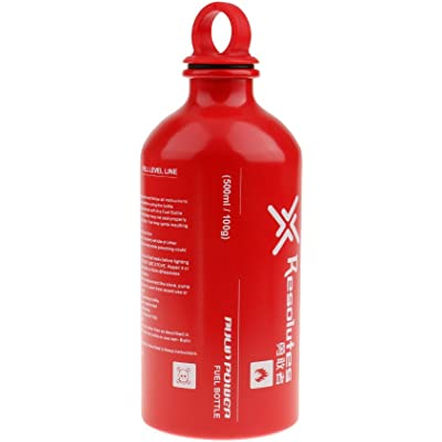 CUTICATE Botella De Combustible De Aluminio Portátil Estufa De Camping Almacenamiento De Combustible Líquido 4 Tamaños