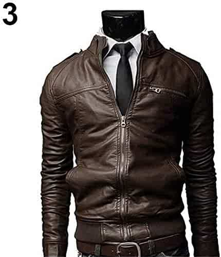 Back To Search Resultsmen's Clothing Spring Men Fashion New Pu Leather Jackets Coats Mens Autumn Stand Collar Smart Casual Overcoats Outwear Size M-4xl Catalogues Will Be Sent Upon Request