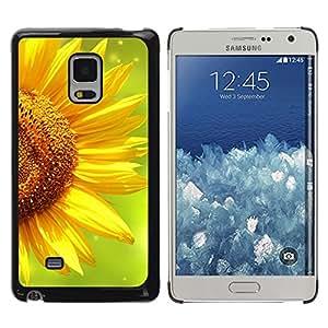 iKiki Tech / Estuche rígido - Summer Green Yellow Flower - Samsung Galaxy Mega 5.8 9150 9152
