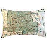 Bancroft Vintage Map Pillow
