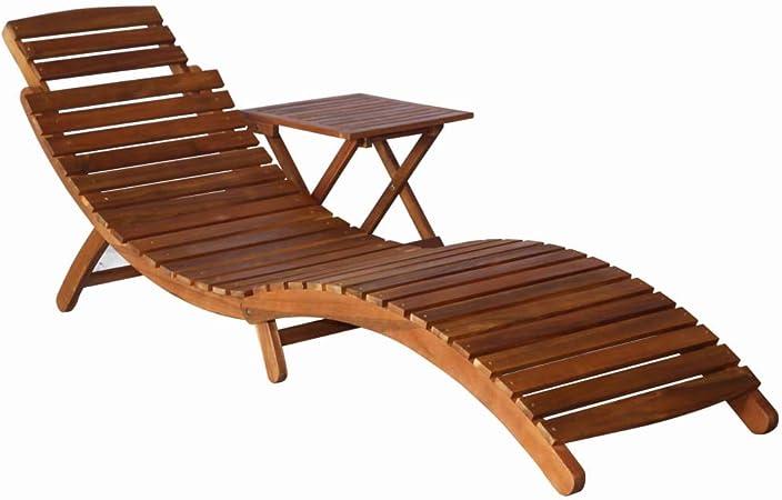 vidaXL Madera Maciza de Acacia Mesa Plegable de Jardín Muebles de Patio Exterior Mesita de Terraza Camping Auxiliar: Amazon.es: Hogar