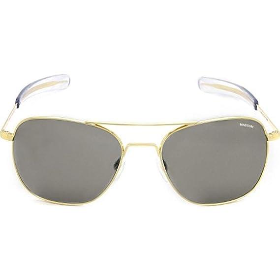 2cea4fde5c Randolph Engineering Square Pilot Sunglasses in 23K Gold Grey Polarised  AF058 55 Grey Polarised Gold  Amazon.co.uk  Clothing