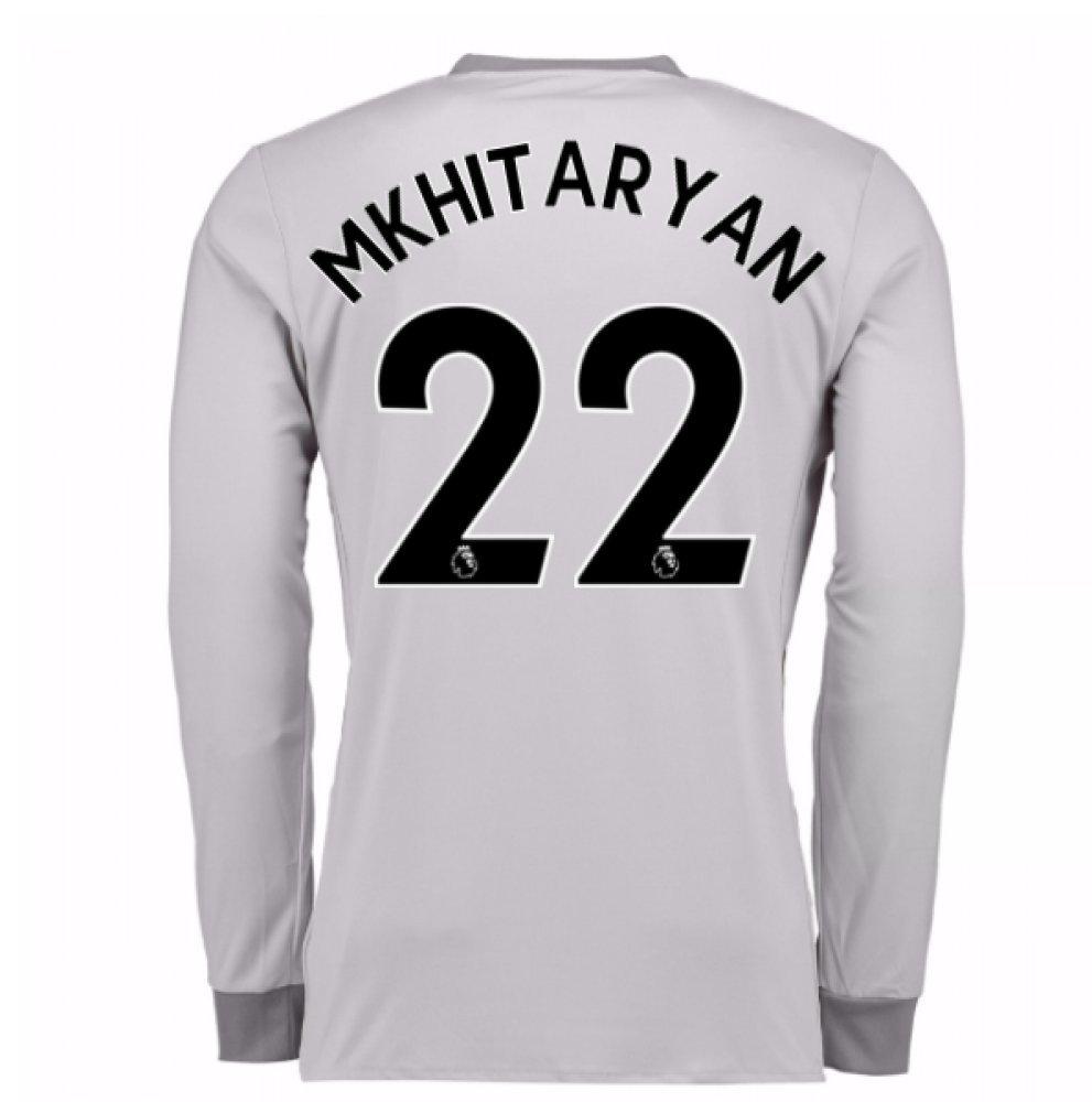 2017-2018 Man United Long Sleeve Third Football Soccer T-Shirt Trikot (Henrikh Mkhitaryan 22)
