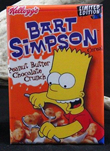 Bart Simpson Cereal Box Refrigerator Magnet.