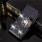 Best iLuv Cover For Iphone 5s - 1 Piece Luxury Glitter Diamond Flower Leather Case Review