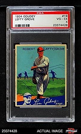 Amazoncom 1934 Goudey 19 Lefty Grove Boston Red Sox Baseball