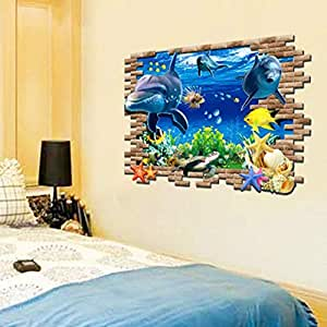 UNDERWATER WORLD CHILDREN'S ROOM THEME REMOVABLE WALL STICKERS