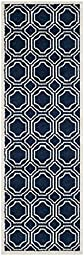 Safavieh Amherst Collection AMT411P Navy and Ivory Indoor/ Outdoor Runner (2\'3\