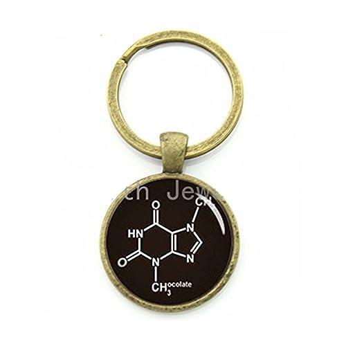 Llavero de bioquímica, molécula de Chocolate, Llavero de ...