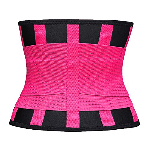 VENUZOR Waist Trainer Belt for Women - Waist Cincher Trimmer - Slimming Body Shaper Belt - Sport Girdle Belt (UP Graded) (Large, Fluorescence Pink) by VENUZOR (Image #6)
