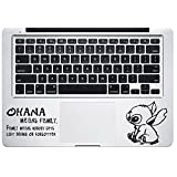 Stitch Quote Trackpad Ohana Family Experiment 626 Lilo & Stitch Apple Macbook Decal Vinyl Sticker Apple Mac Air Pro Retina Laptop sticker