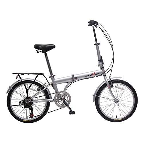 Buy unYOUsual U transformer 20 Folding City Bike Bicycle 6 Speed Shimano Gear Steel Frame Mudguard ...