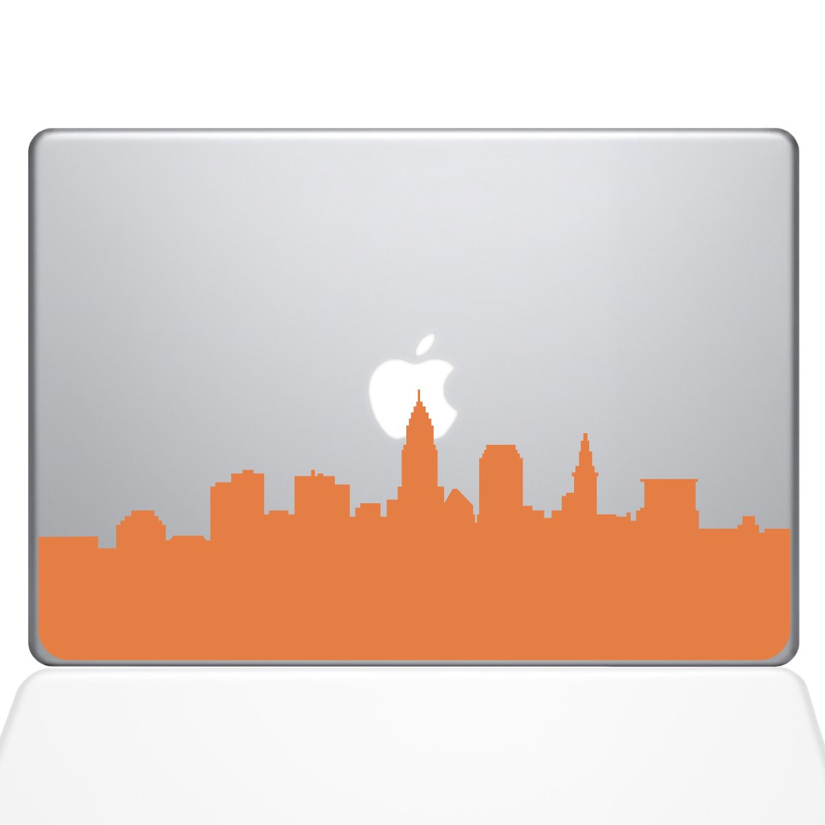 "Amazon.com: The Decal Guru Cleveland OH City Skyline Decal Vinyl Sticker,  11"" MacBook Air, Orange (2356-MAC-11A-P): Computers & Accessories"