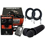 TC Helicon VoiceTone Single R1 Vocal Tuned Reverb Pedal w/TC Helicon MP-75 Microphone and 2 FREE (20') XLR Cables