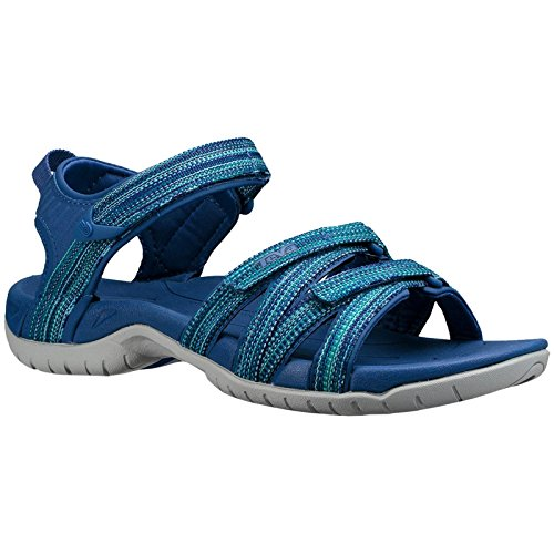 Clogs Slip Athletic (Teva Womens Tirra Synthetic Sandals Galaxy Blue Multi Size EU 39 - US W8)
