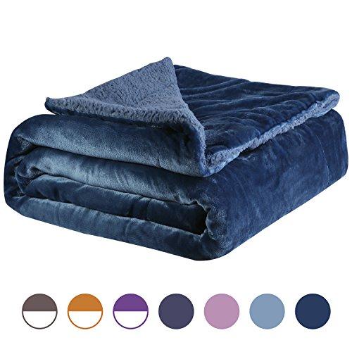 Euyzou Throw Blanket Micro Fleece Plush Sherpa Fur Soft Comf