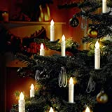 ALDDN 24pcs LED Flameless Candle Lights, with Remote Control and Clips for Christmas Decoration, Wedding, Halloween, Thanksgiving