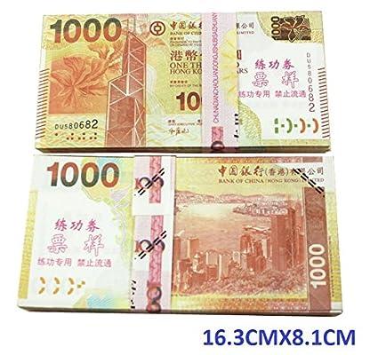 amazon com 1000x100 pcs total 100 000 dollar hongkong hkd