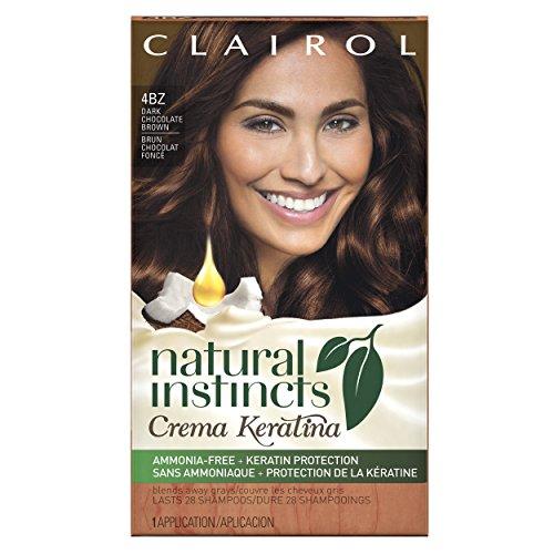 Creme Kit - Clairol Natural Instincts Crema Keratina Hair Color Kit, Dark Chocolate Brown 4BZ Macchiato Creme