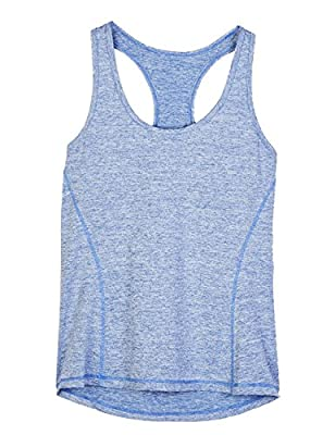 icyzone Activewear Running Workouts Clothes Yoga Racerback Tank Tops Women