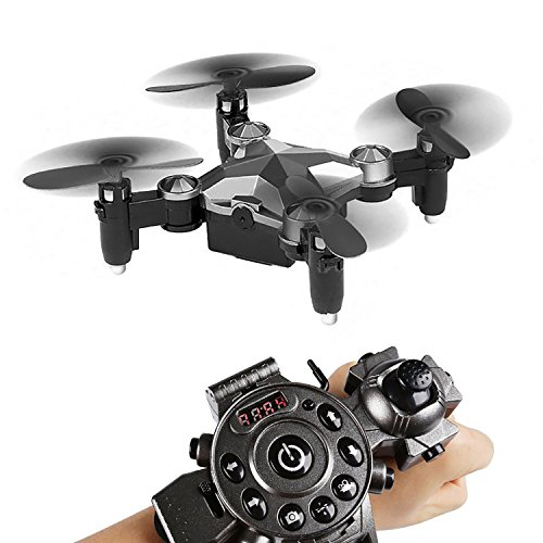 Mini Foldable Drone, Oxygentle RC Quadcopter Watch Design Remote