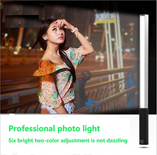 LED video Light Wand Photo Lighting Kit with Remote Control Portable ice light, 6-level dimmable USB charging, 2-8 hours with remote control is simple