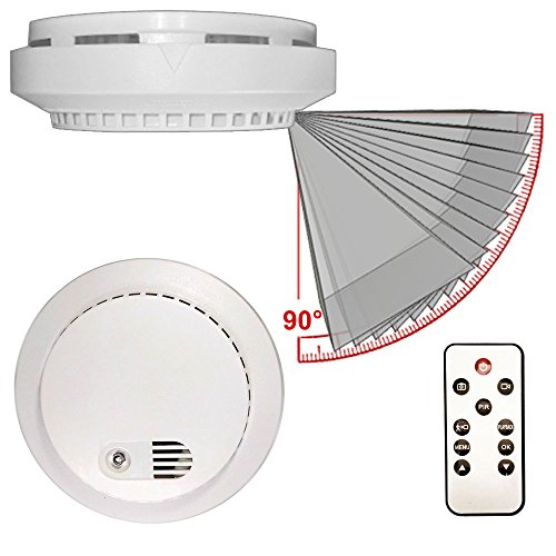 - PalmVID DVR LITE Smoke Detector Hidden Camera Spy Camera with Adjustable View