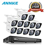 ANNKE 16CH PoE Home Security Camera System 2MP/3MP/4MP/5MP/6MP/4K Network Video Recorder and (12) 1080P Outdoor Bullet IP Cameras, 100ft Night Vision, Power over Ethernet