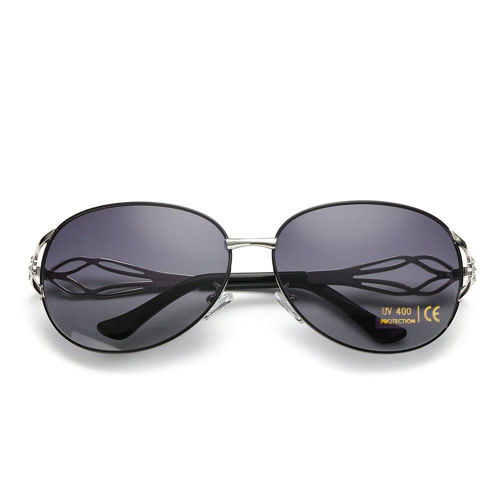 e2d4c4705c4 VeBrellen Women s Shades Oversized Polarized Sunglasses UV Protection  Eyewear  Amazon.co.uk  Clothing