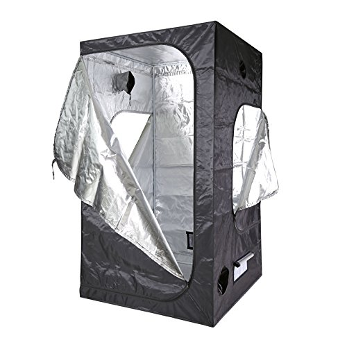 Cheap 100% Mylar 600D reflective Non Toxic Grow Tent With 3 doors For Indoor (48″X48″X84″)