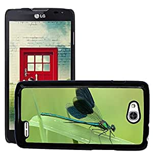 Hot Style Cell Phone PC Hard Case Cover // M00307062 Dragonfly Shiny Insect Close // LG Optimus L90 D415