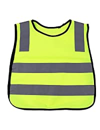 Depruies Kids Safety Vest with Reflective Strips Children's Reflective Vest Tops Night Sports Vest