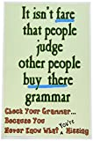 Poster #217 Student Grammar Poster, Funny Grammar School Posters