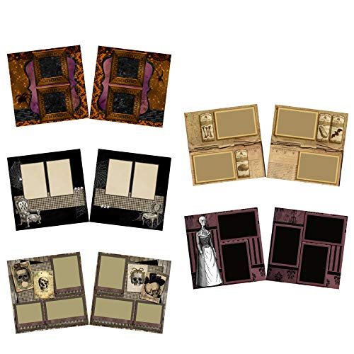 Pretty Creepy - Halloween Scrapbook Set - 5 Double Page Layouts for $<!--$19.99-->