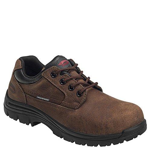 Composite Toe Oxford Work Shoes (Avenger Men's Waterproof Oxford Work Shoes Composite Toe Brown 10 D)